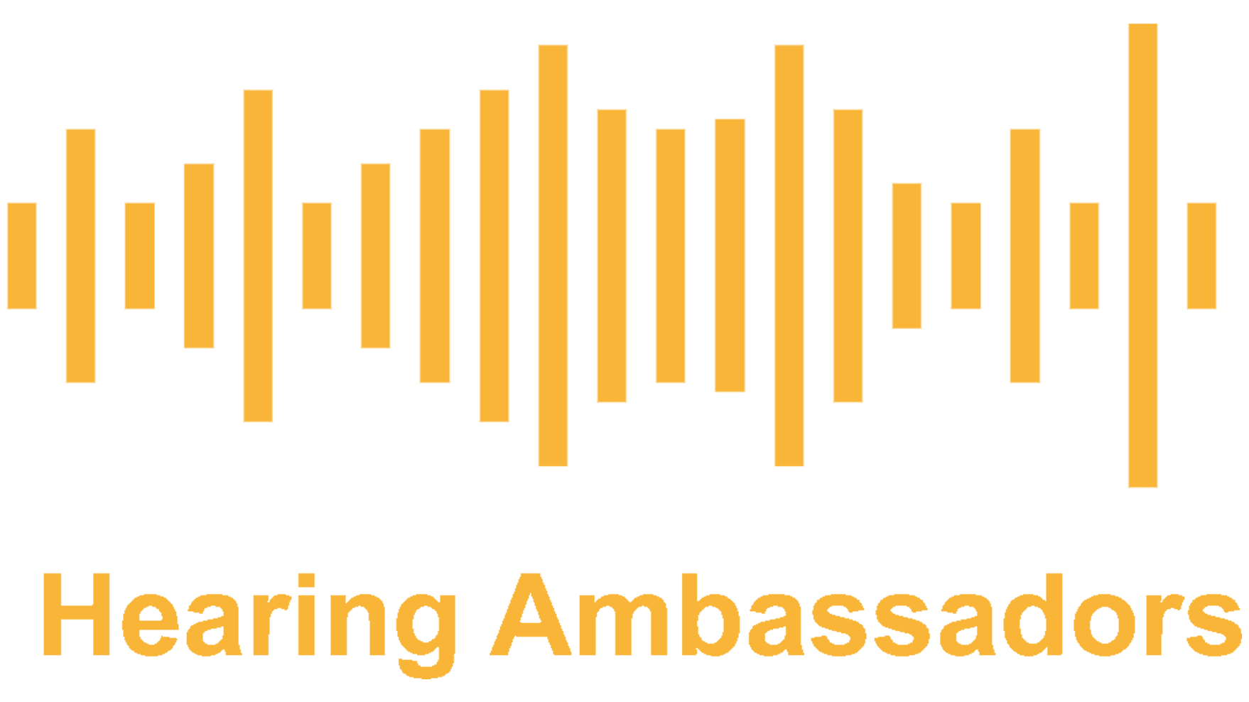 Hearing Ambassadors logo, gold